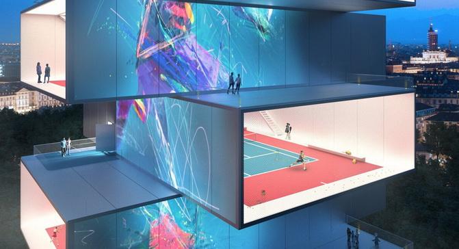 «Хмарочос для тенісу» - вражаючий італійський проект
