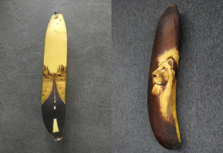 Дівчина від нудьги почала малювати на бананах, використовуючи їхній головний недолік (фото)