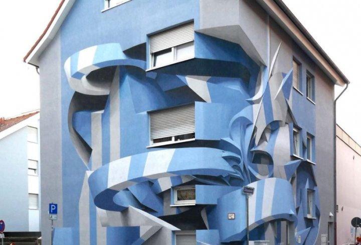 Оптичні ілюзії в 3D фресках італійського художника (фото)