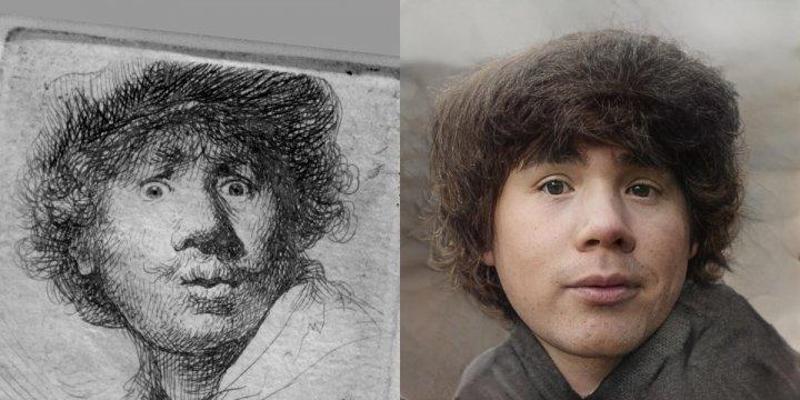 Художник за допомогою нейромережі відновлює намальованих героїв і показує, як вони виглядали б в житті