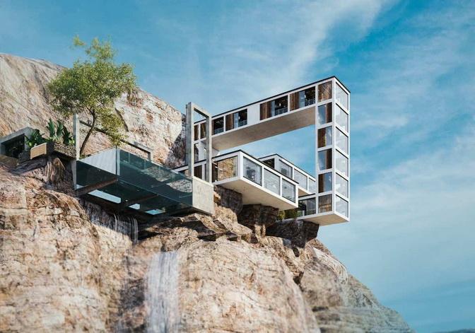 Mountain House - архітектурне «диво» на гірському схилі (фото)