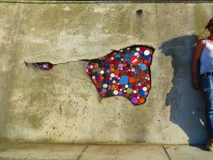 Спосіб реставрації тріщин французького вуличного художника (фото)