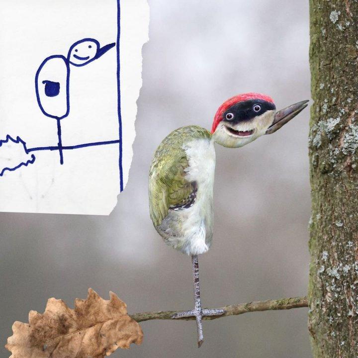 Татусь вдихає життя в малюнки своїх дітей, створюючи смішні шедеври (фото)