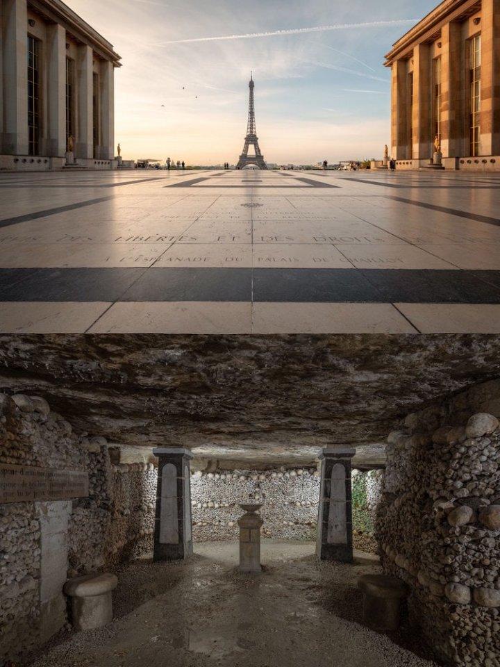Фотограф створив серію знімків, показавши, що знаходиться під відомими пам'ятками (фото)